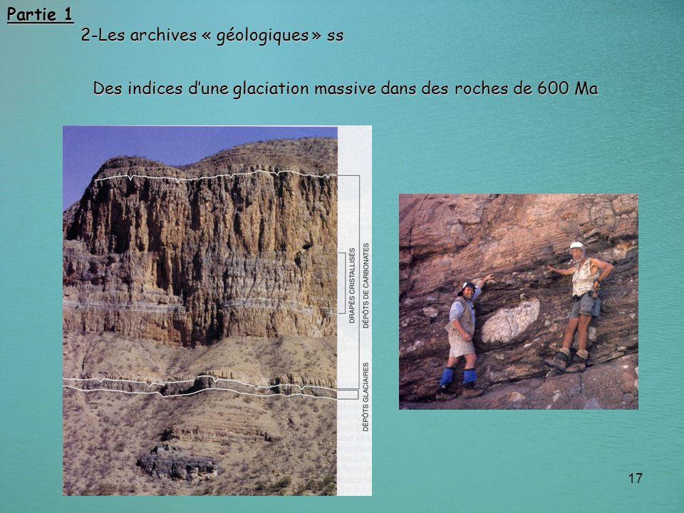 Partie 1 2-Les archives « géologiques » ss.