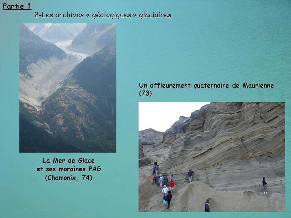 2-Les archives « géologiques » glaciaires