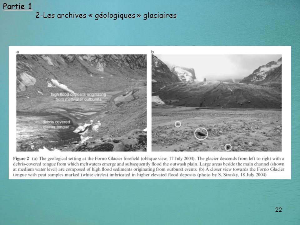 Partie 1 2-Les archives « géologiques » glaciaires