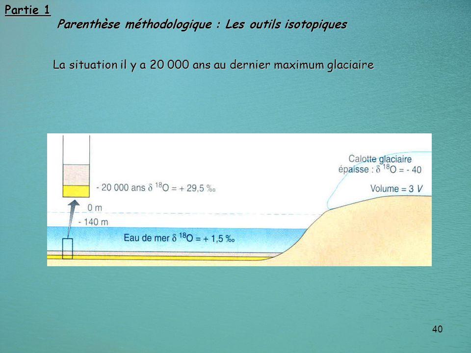 Partie 1 Parenthèse méthodologique : Les outils isotopiques.