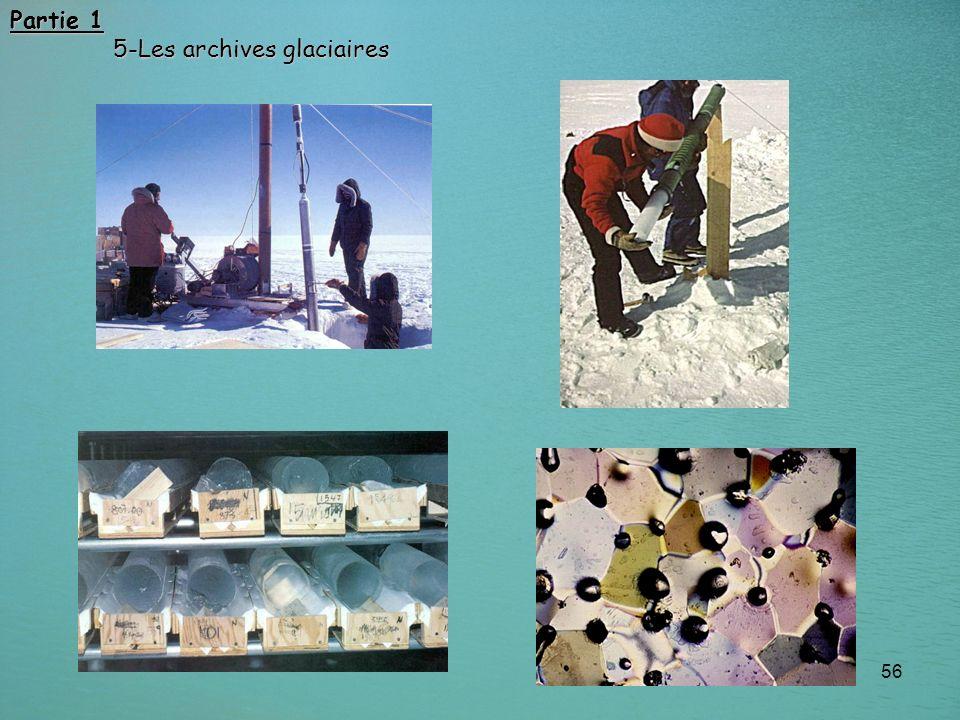 Partie 1 5-Les archives glaciaires
