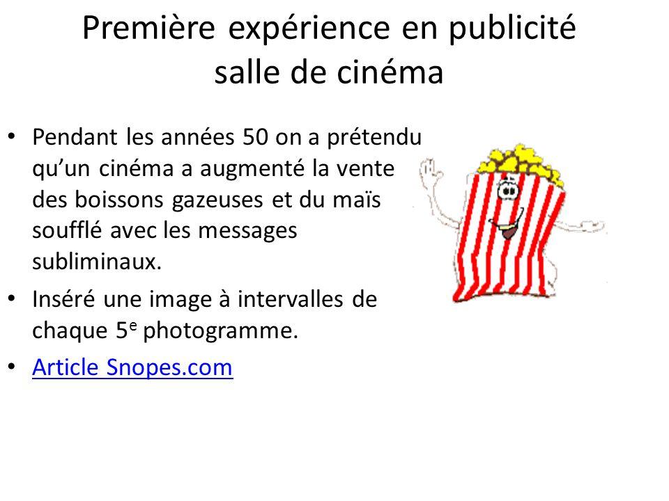 Première expérience en publicité salle de cinéma