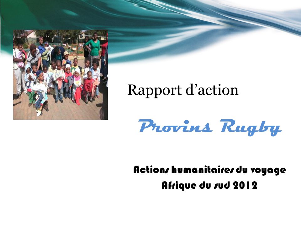 Actions humanitaires du voyage