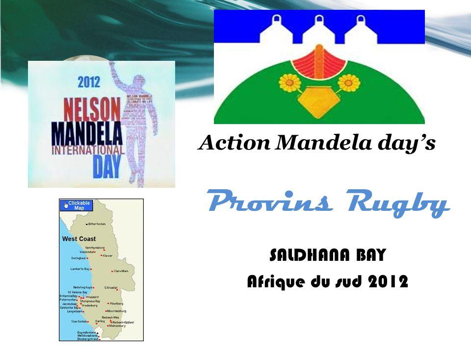Provins Rugby Action Mandela day's SALDHANA BAY Afrique du sud 2012