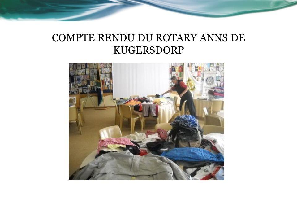 COMPTE RENDU DU ROTARY ANNS DE KUGERSDORP