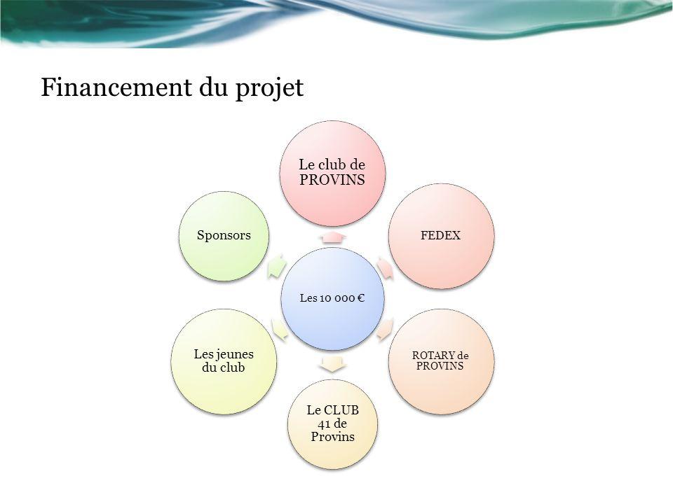 Financement du projet Le club de PROVINS Le CLUB 41 de Provins
