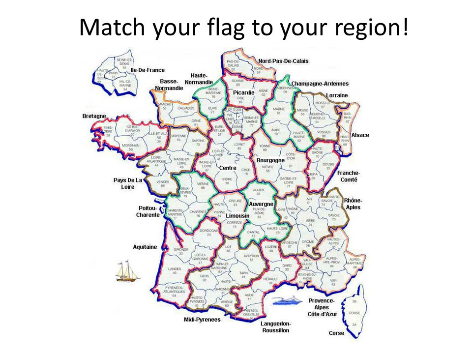 Match your flag to your region!