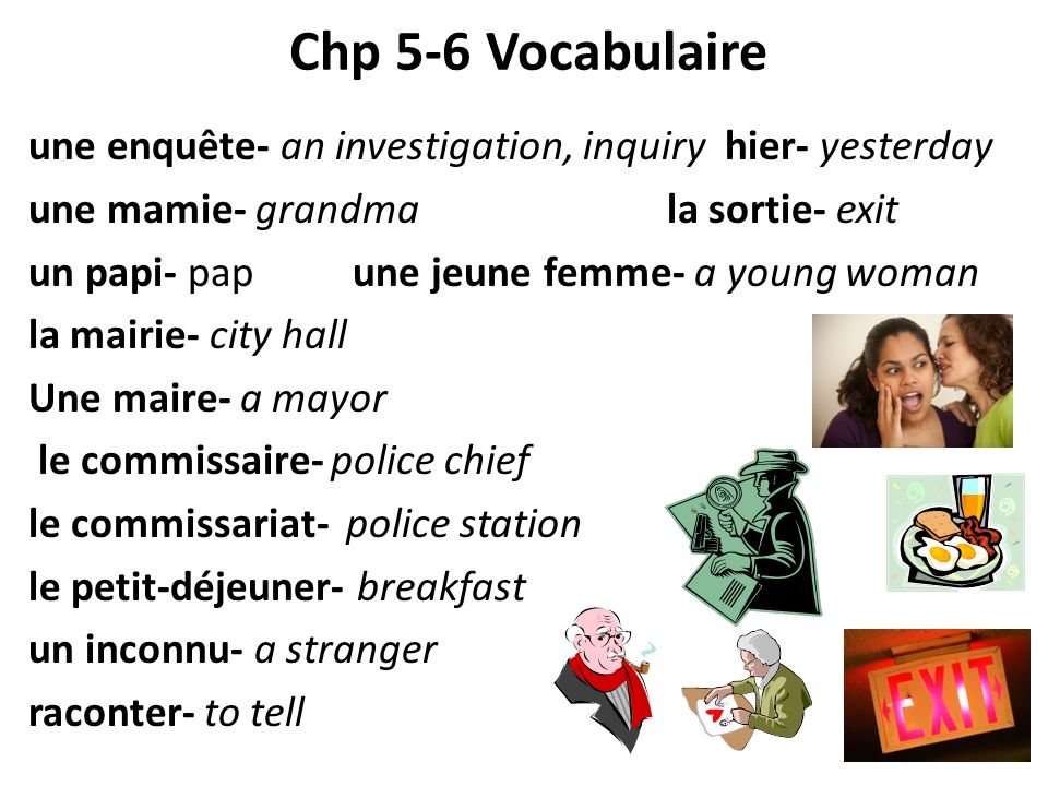 Chp 5-6 Vocabulaire