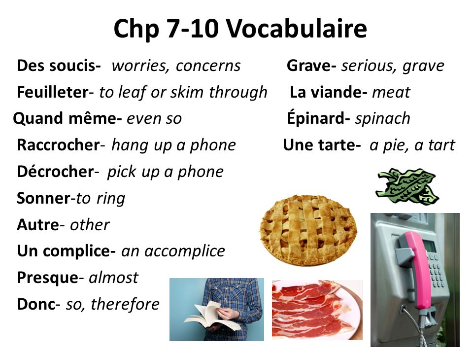 Chp 7-10 Vocabulaire