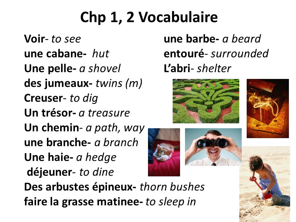 Chp 1, 2 Vocabulaire