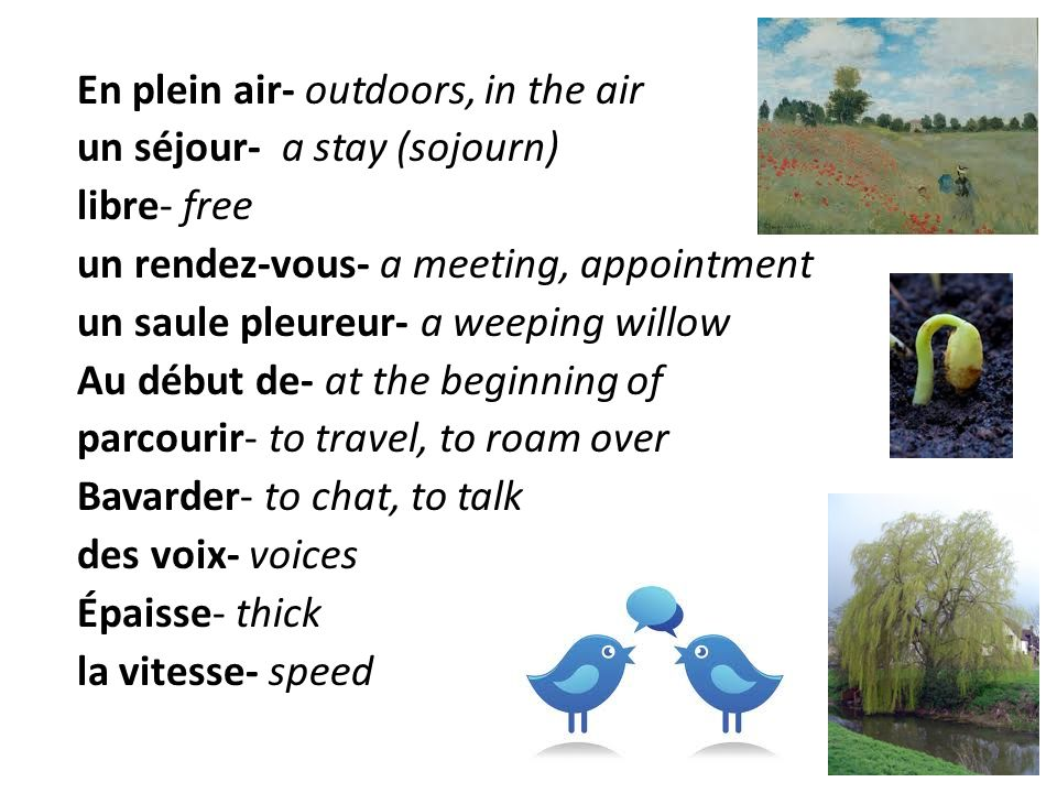 En plein air- outdoors, in the air