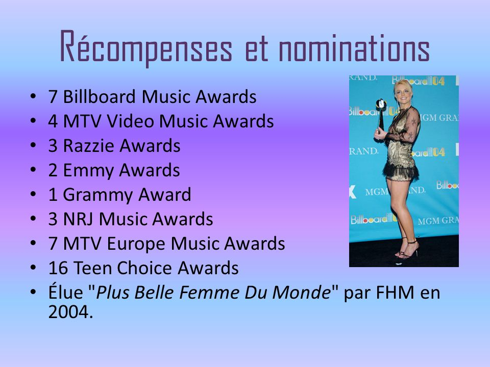 Récompenses et nominations