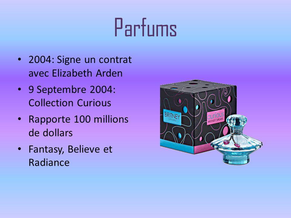 Parfums 2004: Signe un contrat avec Elizabeth Arden