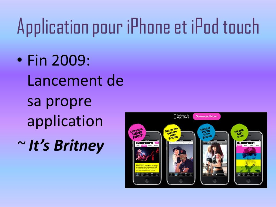 Application pour iPhone et iPod touch