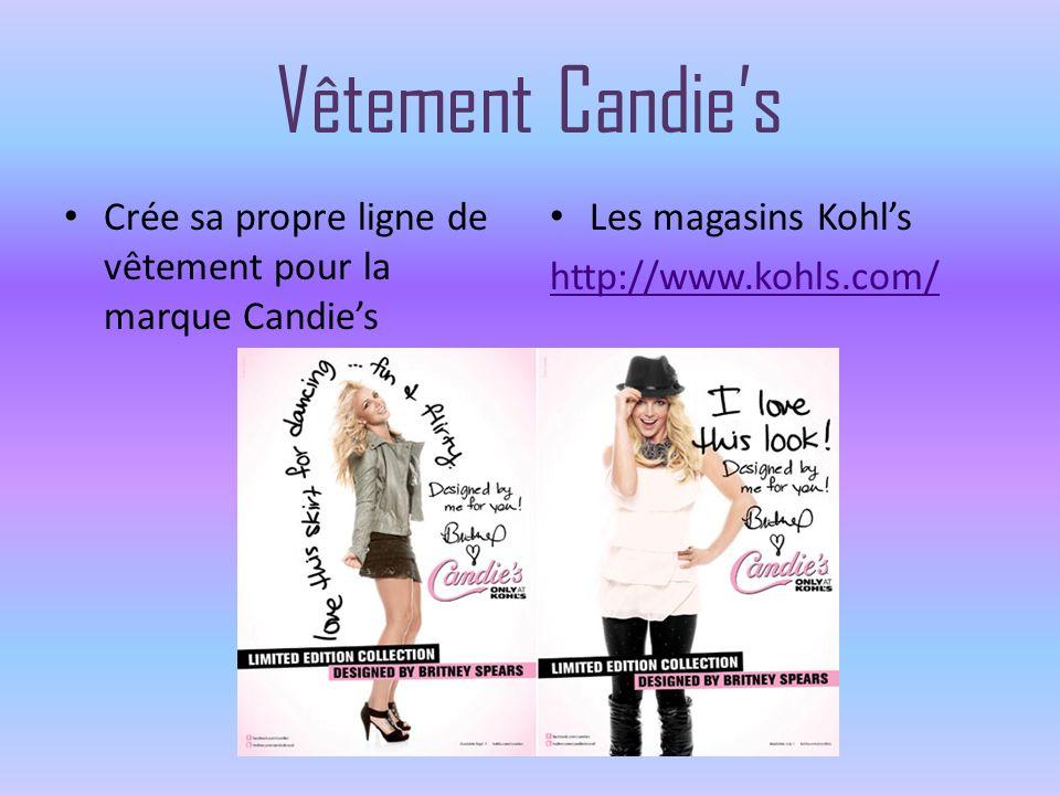 Vêtement Candie's Crée sa propre ligne de vêtement pour la marque Candie's.