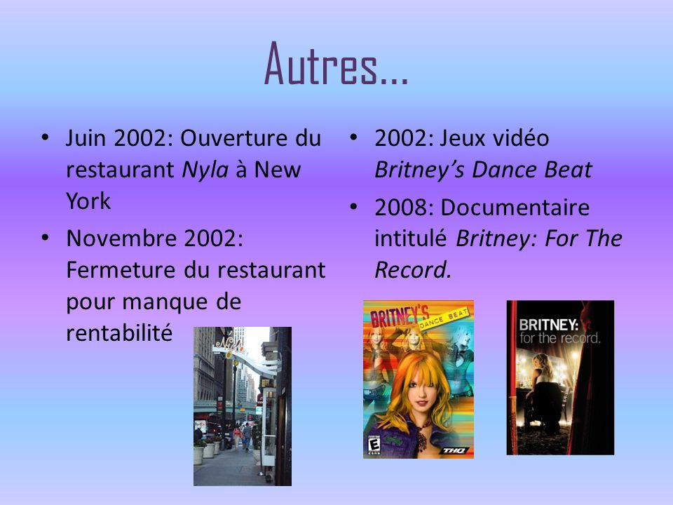Autres... Juin 2002: Ouverture du restaurant Nyla à New York