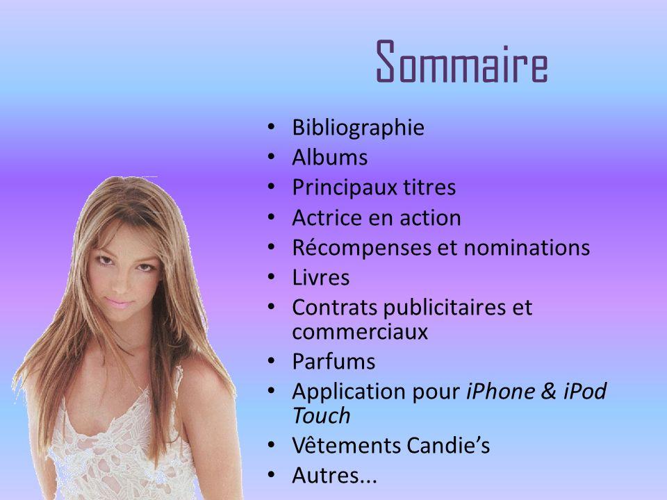 Sommaire Bibliographie Albums Principaux titres Actrice en action