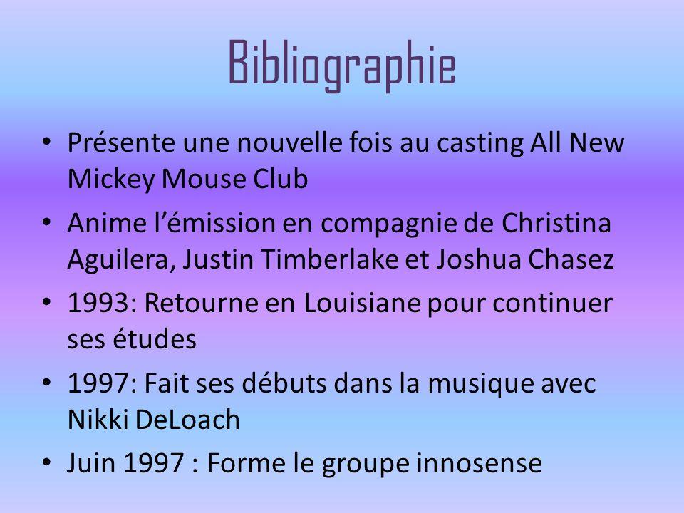Bibliographie Présente une nouvelle fois au casting All New Mickey Mouse Club.