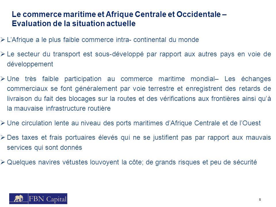 Le commerce maritime et Afrique Centrale et Occidentale – Evaluation de la situation actuelle