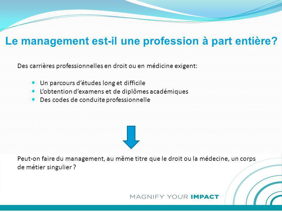 Le management est-il une profession à part entière