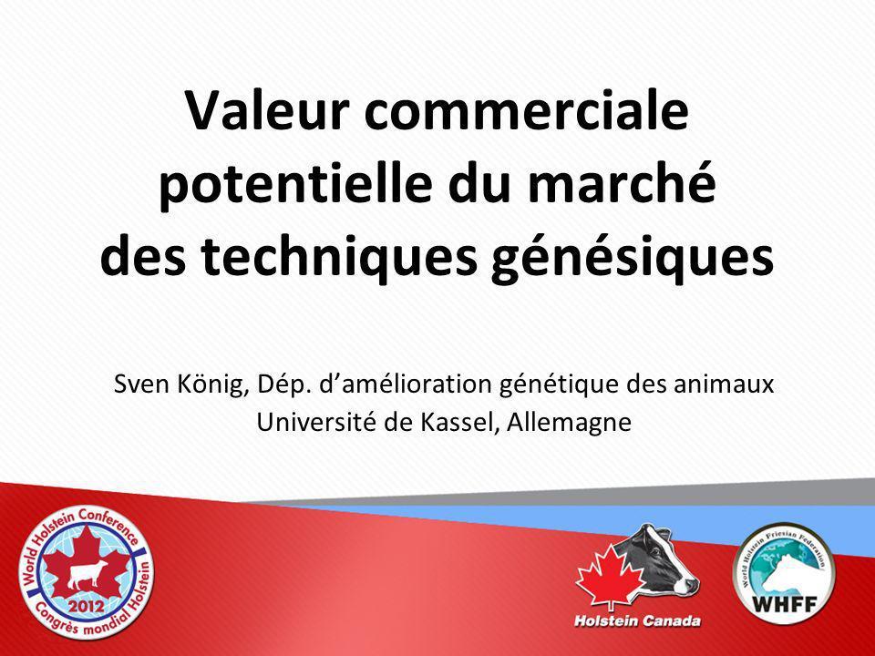 Valeur commerciale potentielle du marché des techniques génésiques