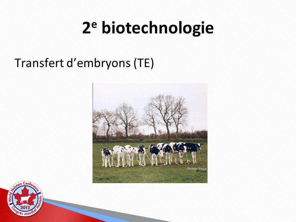 2e biotechnologie Transfert d'embryons (TE)