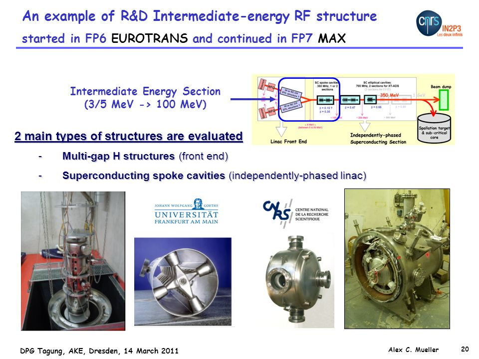 Intermediate Energy Section (3/5 MeV -> 100 MeV)