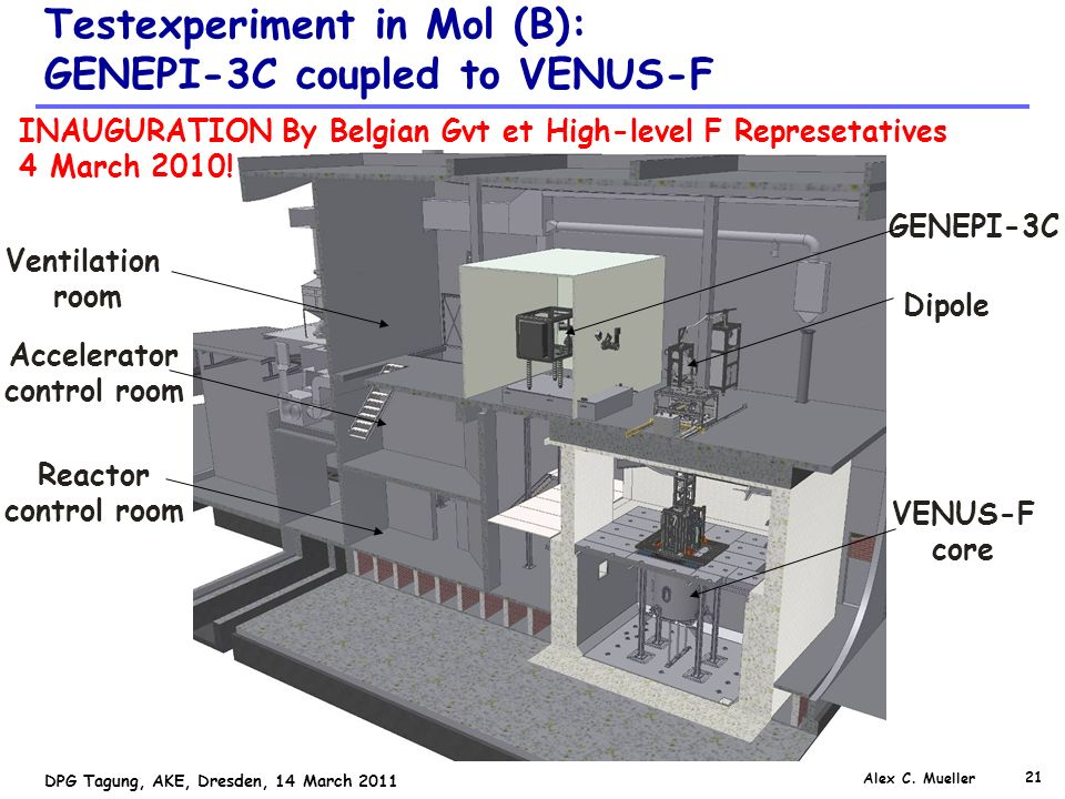 Testexperiment in Mol (B): GENEPI-3C coupled to VENUS-F