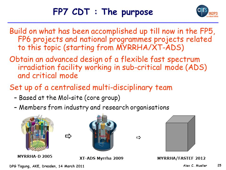 FP7 CDT : The purpose