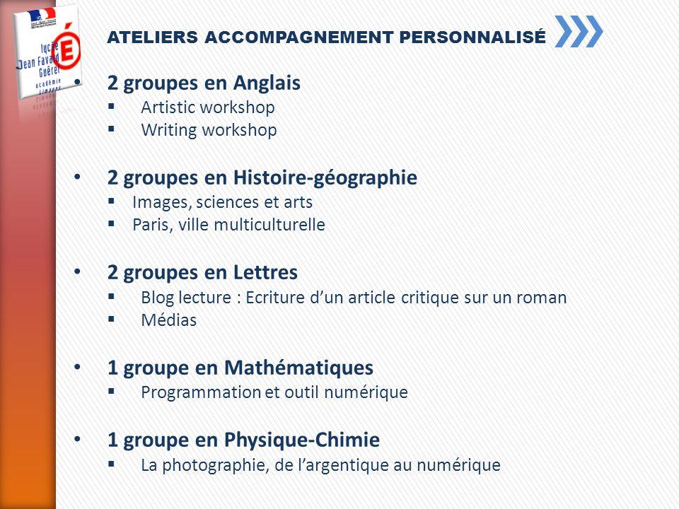 2 groupes en Histoire-géographie