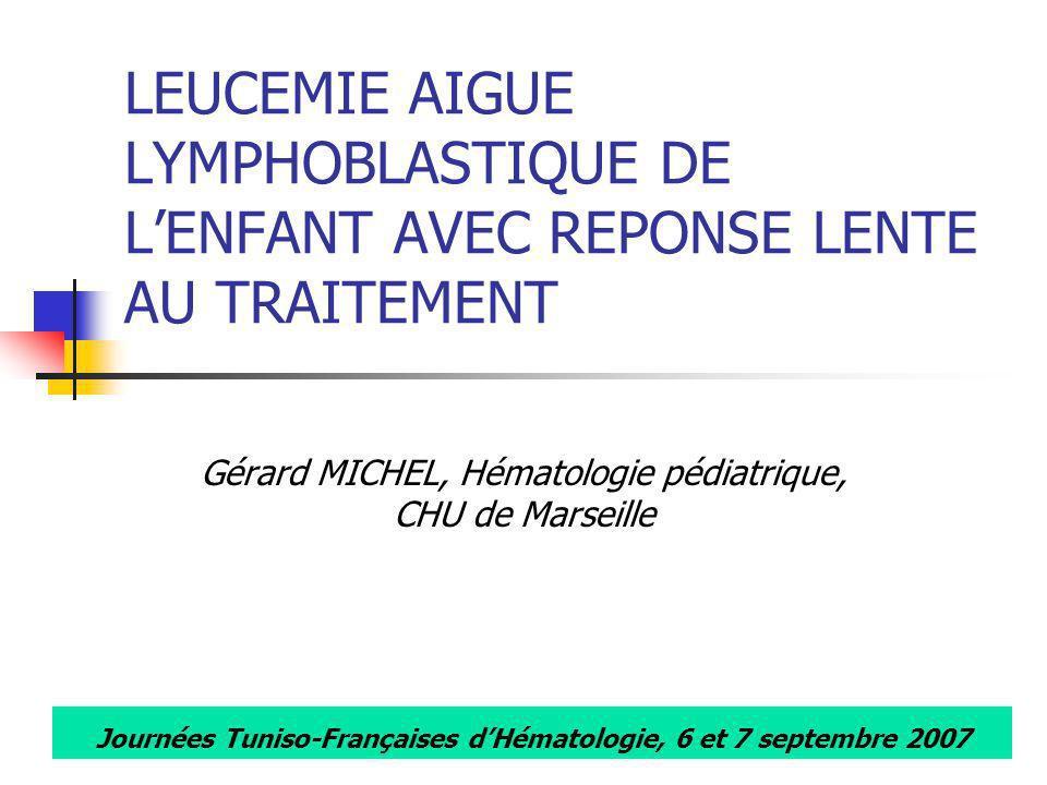 Gérard MICHEL, Hématologie pédiatrique, CHU de Marseille