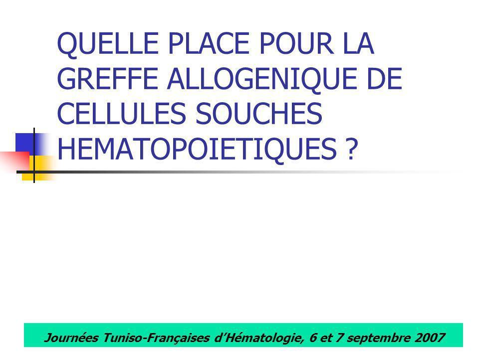 Journées Tuniso-Françaises d'Hématologie, 6 et 7 septembre 2007