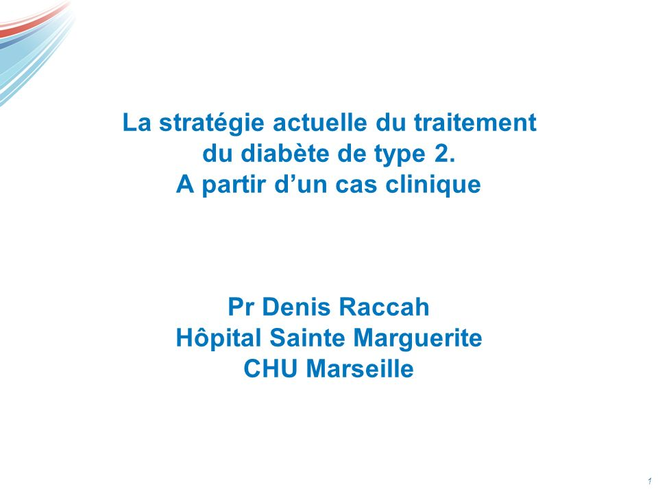 La stratégie actuelle du traitement du diabète de type 2