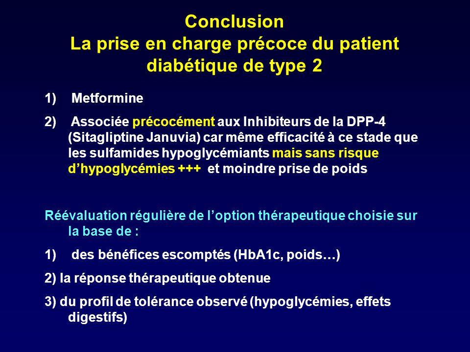 La prise en charge précoce du patient diabétique de type 2