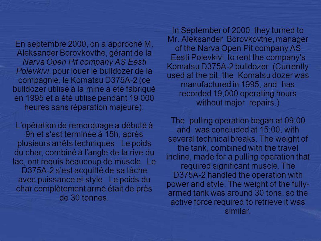 En septembre 2000, on a approché M