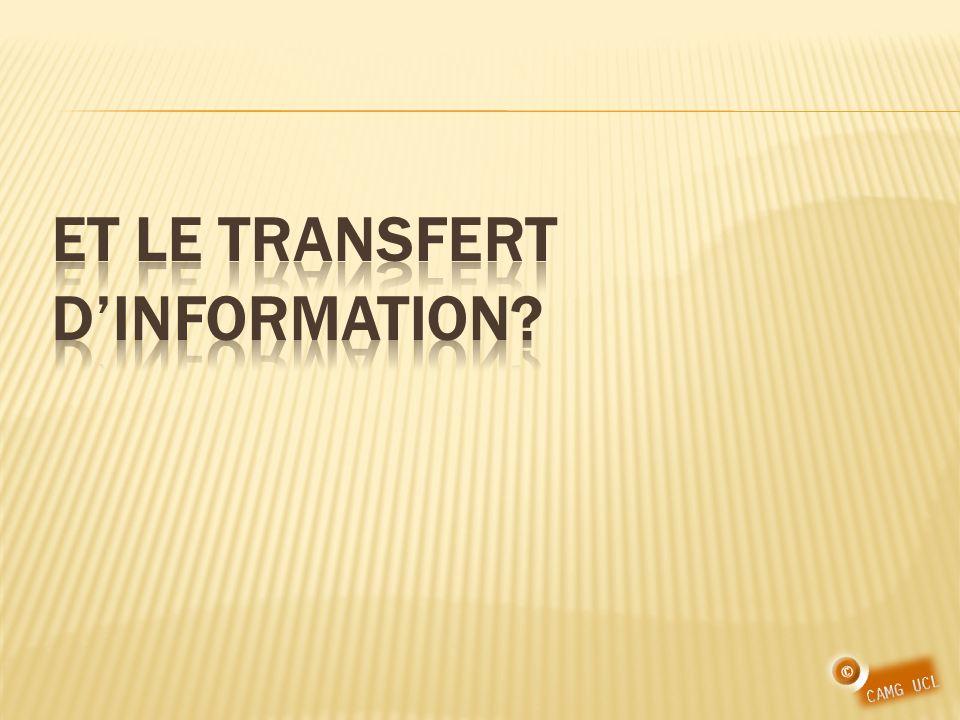 Et le transfert d'information