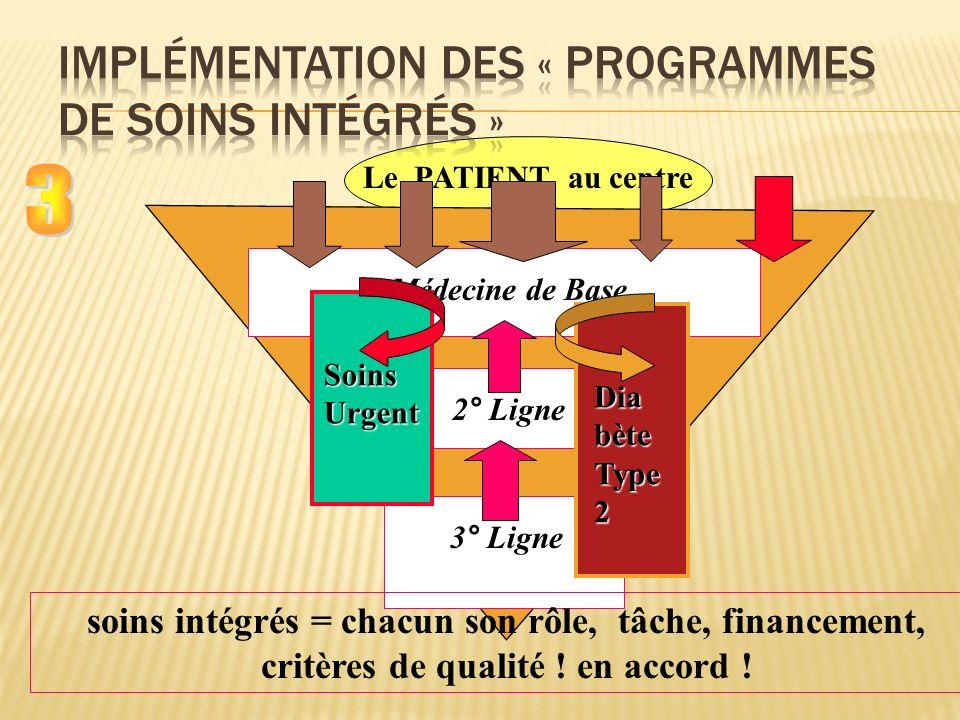 Implémentation des « programmes de soins intégrés »