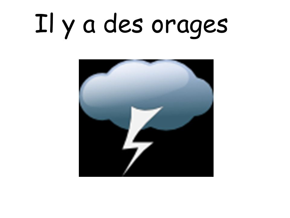 Il y a des orages