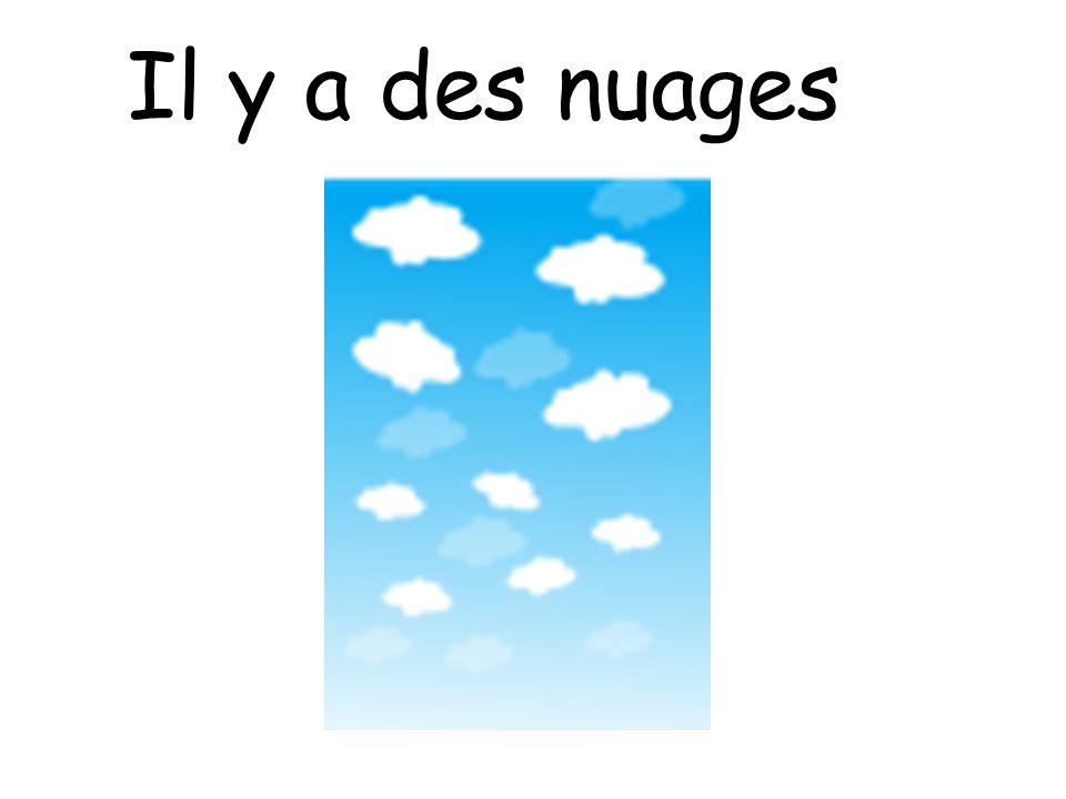 Il y a des nuages