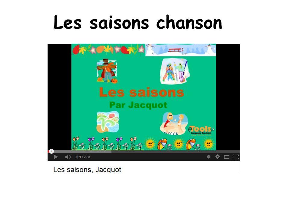 Les saisons chanson Les saisons changent quatre fois…The seasons change 4 times.