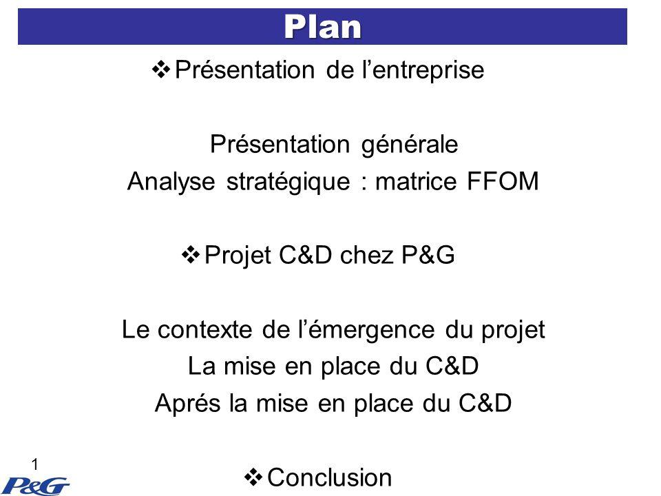 Plan Présentation de l'entreprise Présentation générale