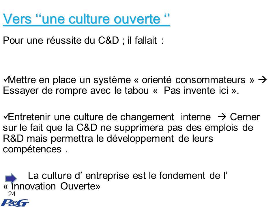 Vers ''une culture ouverte ''
