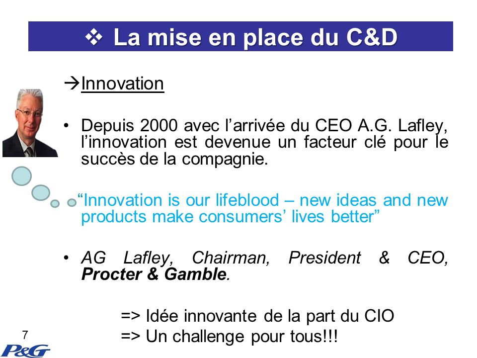 La mise en place du C&D Innovation