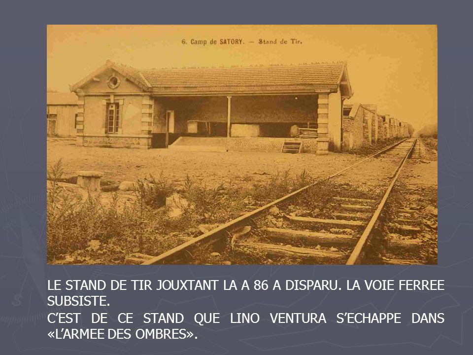 LE STAND DE TIR JOUXTANT LA A 86 A DISPARU. LA VOIE FERREE SUBSISTE.