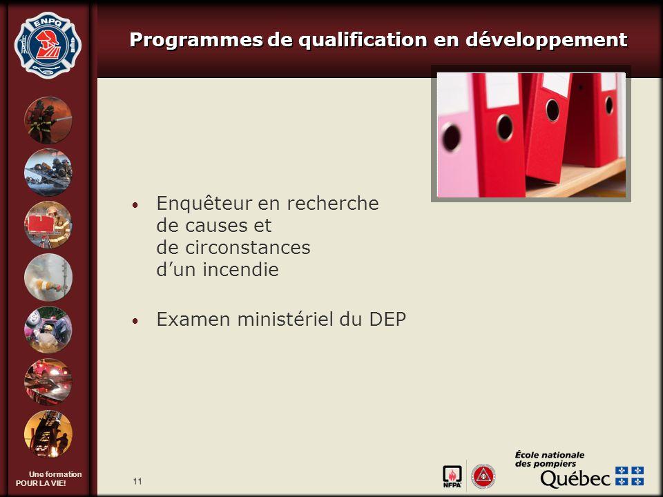 Programmes de qualification en développement