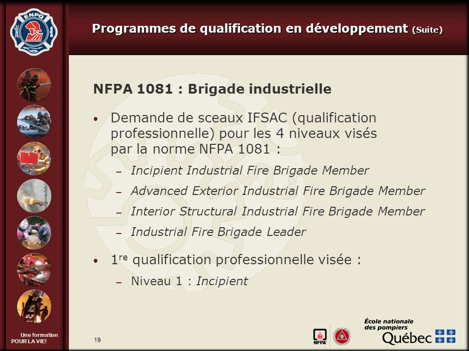 Programmes de qualification en développement (Suite)