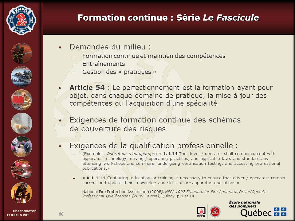 Formation continue : Série Le Fascicule