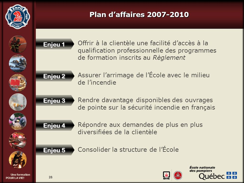 Tournée provinciale 2009-2010 Plan d'affaires 2007-2010.