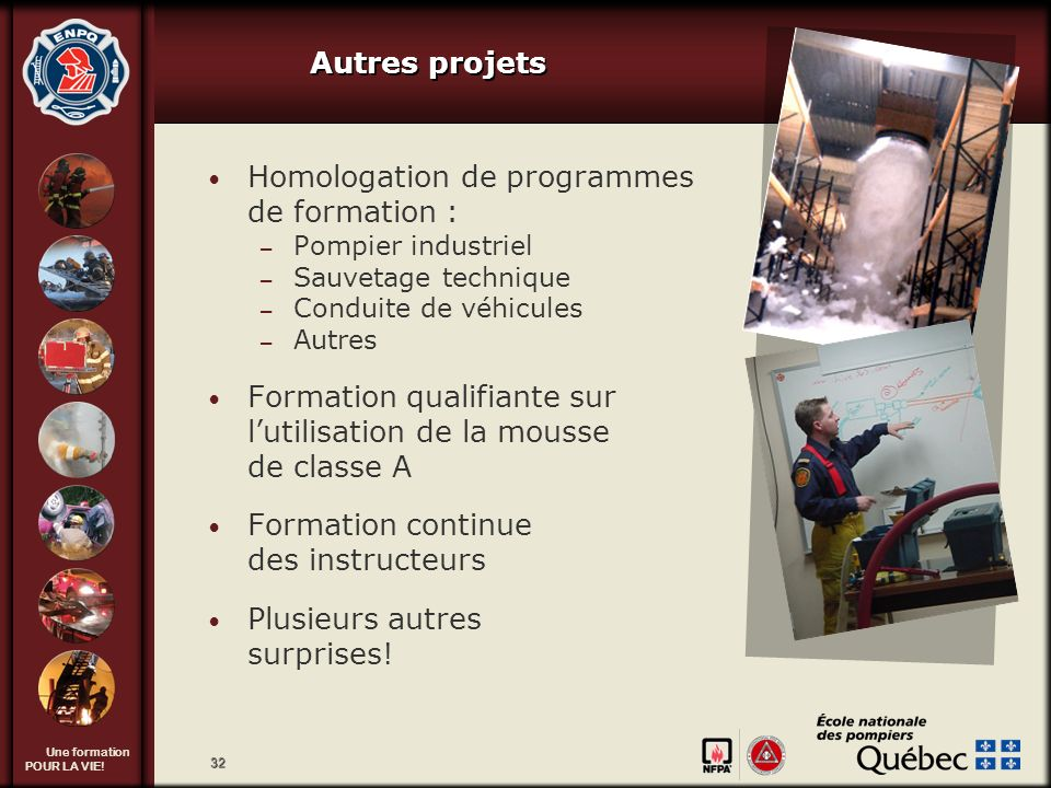 Homologation de programmes de formation :