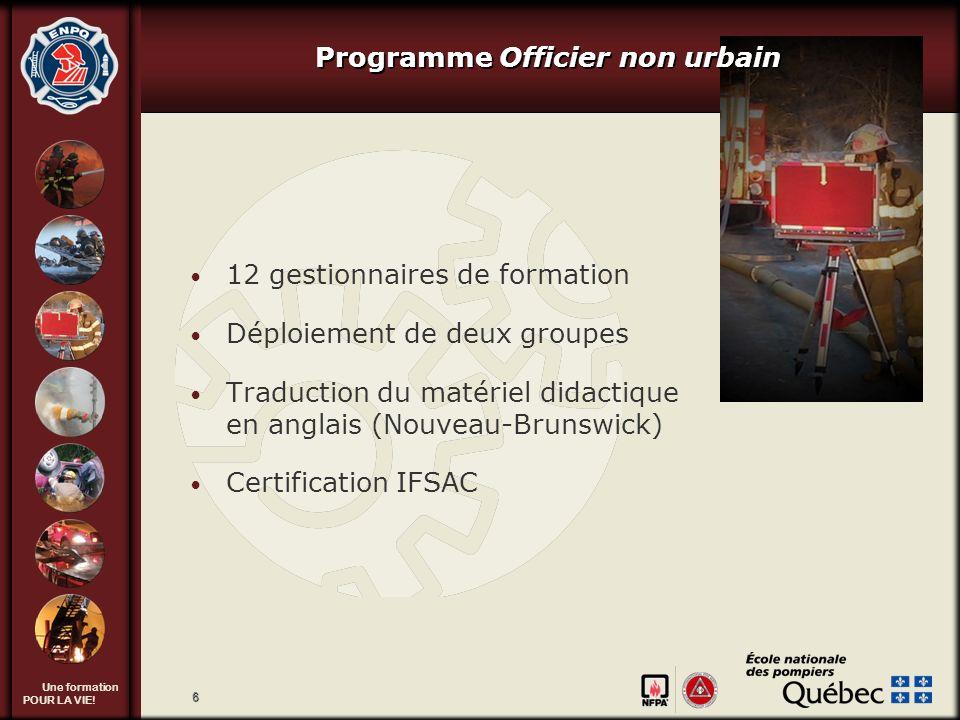 Programme Officier non urbain